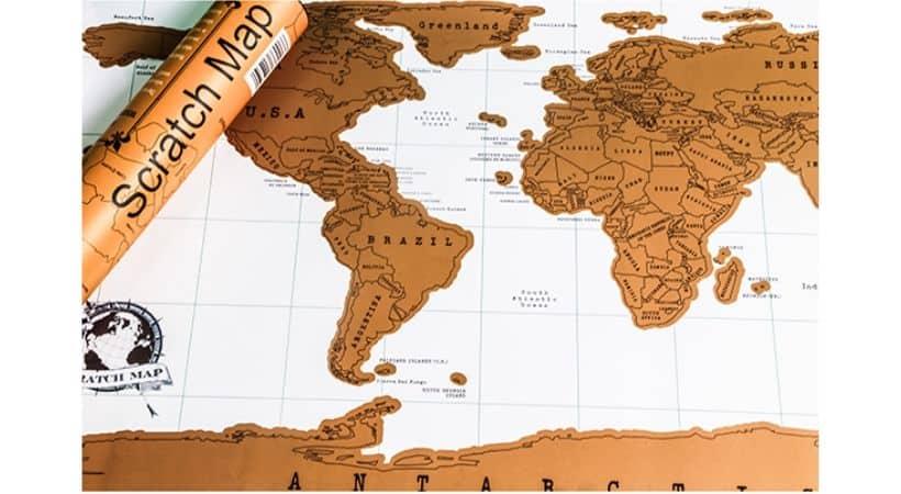 Skrabe verdenskort