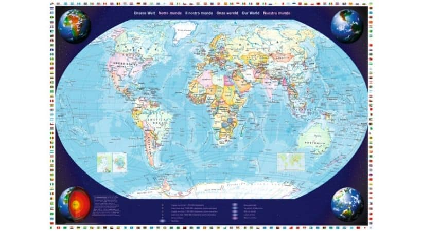 Verdenskort som puslespil