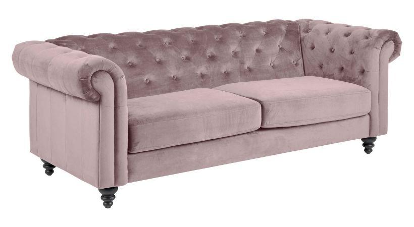 Billig Chesterfield-sofa i stof