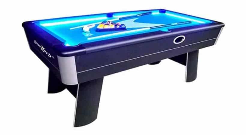 Poolbord med LED-lys