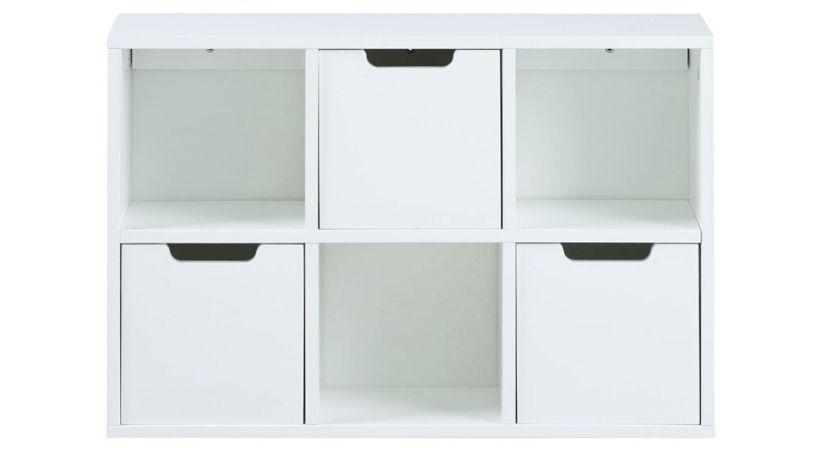 Billig hvid rumdeler - 6 rum