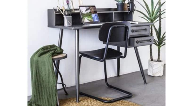 Sort skrivebord - Antikt / vintage look