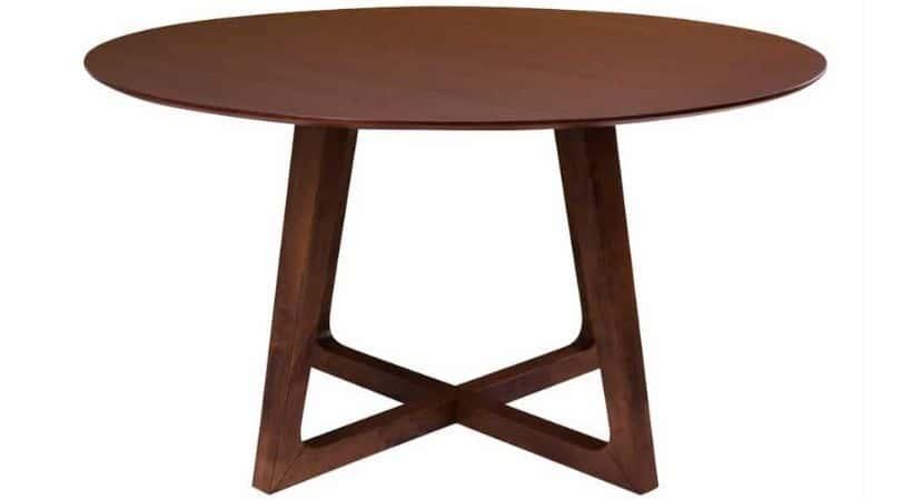 Stort rundt spisebord - Valnoed