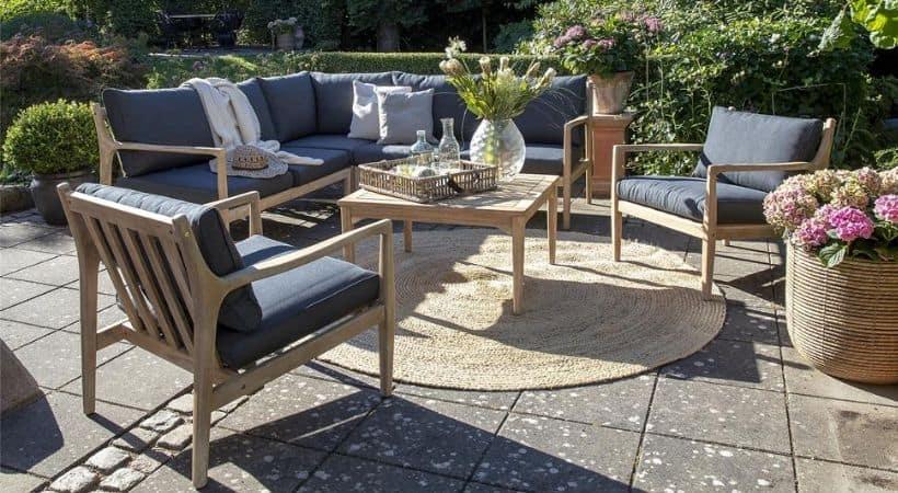 Udendørs hjørnesofa - Lounge-sofa til haven