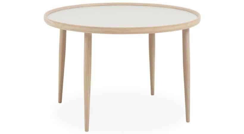 50 cm højt sofabord - Gråt og hvid-olieret eg
