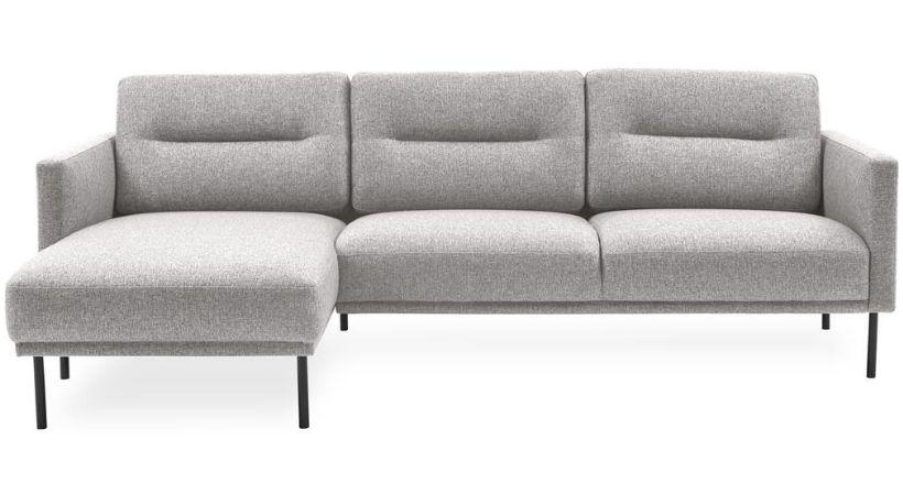 Beige / lys sofa med chaiselong - Larvik