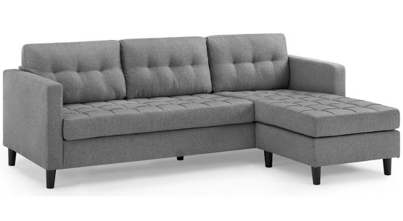 Billig 3-personers sofa med chaiselong