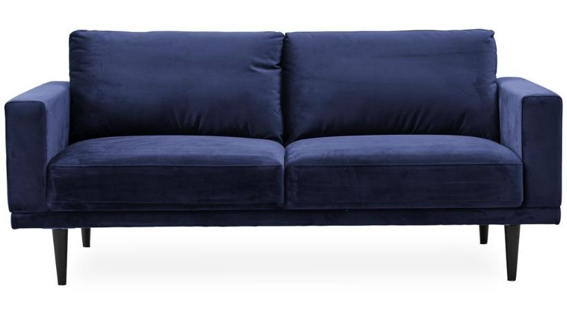 Blå velour-sofa - Mexico