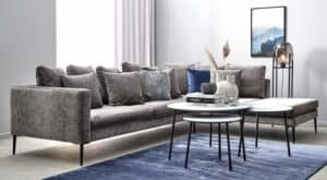 Velour-sofa