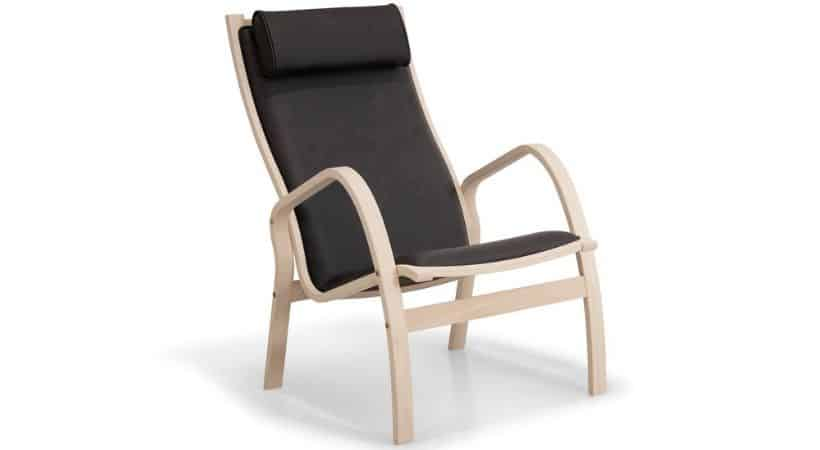 Lille lænestol i træ - Formspændt bøg